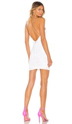 Nookie Sensational Sequin Mini Dress In White.