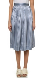 Jill Stuart Stripe Skirt Blue