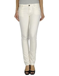 Twin Set Simona Barbieri Denim Pants White
