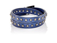 Valentino Men's Rockstud Double Wrap Bracelet Black