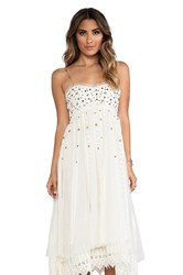 Free People Studded Lace Party Dress Ivory