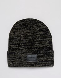 Asos Patch Beanie In Gold Gold