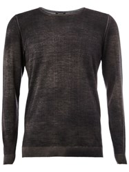 Avant Toi Faded Effect Jumper Grey