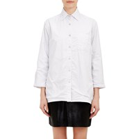 Harvey Faircloth Dot Stripe Shirt White
