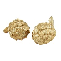 Aerin Artichoke Salt And Pepper Shakers Gold