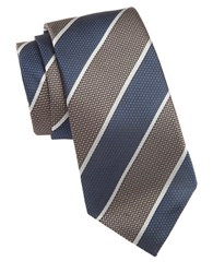 Vince Camuto Striped Silk Tie Taupe