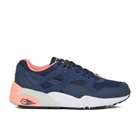 Puma Women's R698 Filtered Low Top Trainers Peacoat Pink Navy