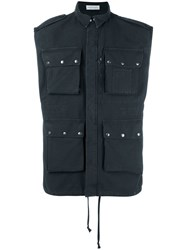 Faith Connexion Military Sleeveless Gilet Black