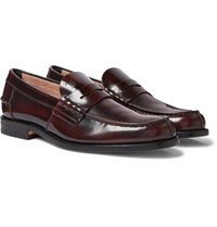Tod's Leather Penny Loafers Burgundy
