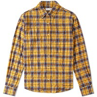 Faith Connexion Loose Check Shirt Yellow