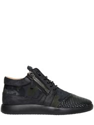 Giuseppe Zanotti Suede And Brushed Leather Running Sneakers