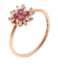 Suzanne Kalan One Of A Kind Rose Gold Diamond Sapphire Ring Female White