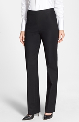 Nic Zoe Side Zip Slim Ponte Pants Petite Black Onyx