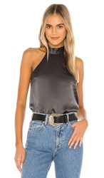 Cami Nyc The Wendy Blouse In Charcoal. Iron