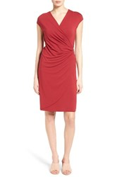 Tommy Bahama Women's Tambour Side Gathered Jersey Dress Sangria Red