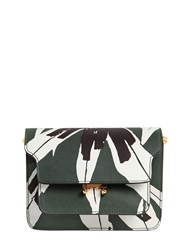 Marni Mini Trunk Flower Print Saffiano Bag