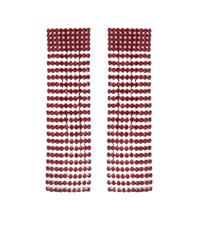 Alessandra Rich Crystal Embellished Earrings Red