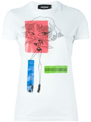 Dsquared2 Printed T Shirt White