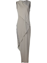 Ilaria Nistri Asymmetric Evening Dress Grey