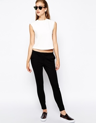 Mango 2 Pocket Ponte Trouser Black