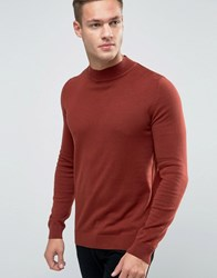 New Look Turtle Neck Jumper In Burnt Orange Burnt Orange Brown