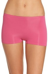Nordstrom Women's Lingerie Seamless Boyshorts Pink Lilac
