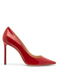 Jimmy Choo Romy 100 Patent Leather Pumps Red