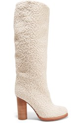 M Missoni Boucle Boots Off White