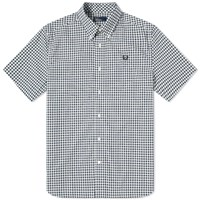 Fred Perry Authentic Short Sleeve Gingham Shirt Blue