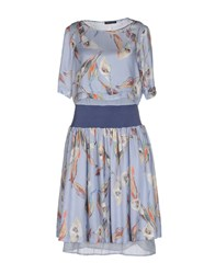 Mariella Rosati Dresses Knee Length Dresses Women Slate Blue