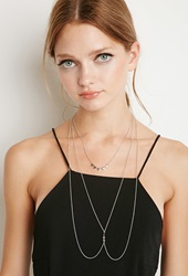 Forever 21 Triangle Charm Body Chain Silver