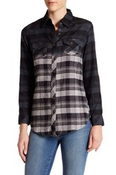 Angie Long Sleeve Collared Shirt Gray