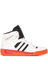 Y 3 Hayworth Stripe High Top Sneakers White