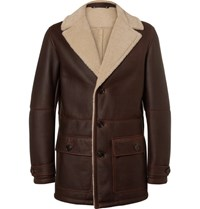 Ermenegildo Zegna Shearling Jacket Brown