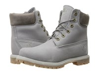 Timberland 6 Premium Boot Dark Grey Waxed Canvas Women's Lace Up Boots Gray