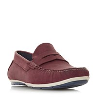 Howick Batik Sporty Penny Loafer Shoes Red