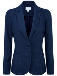 Pure Collection Kirsten Laundered Linen Jacket French Navy