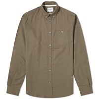 Norse Projects Anton Brushed Flannel Shirt Green