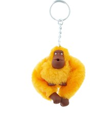 Kipling Fluffy Monkey Keyring 5Cm Sunset Yellow