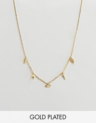 Orelia Gold Plated Mixed Charm Necklace