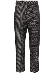 Haider Ackermann Jacquard Patterned Trousers Black