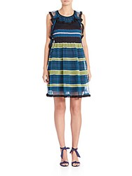 M Missoni Fancy Ribbon Stitch Dress Teal