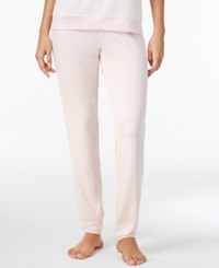 Alfani Lacy Jacquard Trimmed Pajama Pants Only At Macy's Pink Heather