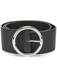 Orciani Wide Round Buckle Belt Black