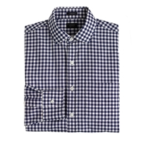 J.Crew Tall Ludlow Spread Collar Shirt In Navy Gingham Classic Navy