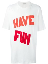 Faith Connexion Oversized 'Have Fun' T Shirt White