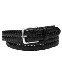 Fossil Maddox Braided Leather Belt Black