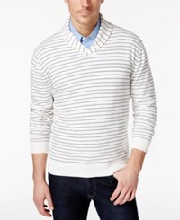Ryan Seacrest Distinction Striped Shawl Sweater Only At Macy's Ivory