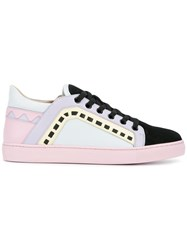 Sophia Webster Leather Riko Low Top Trainers White