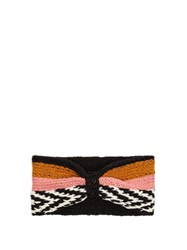 Missoni Striped Knitted Headband Pink